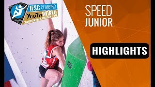 IFSC Youth World Championships Moscow 2018- Juniors Speed Final Highlights by International Federation of Sport Climbing