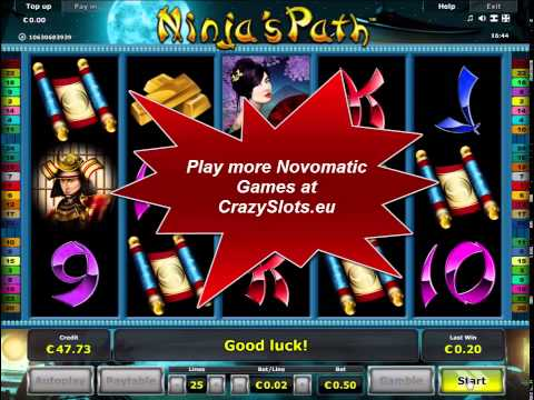 Ninja's Path Slot - New online Casino game Novomatic