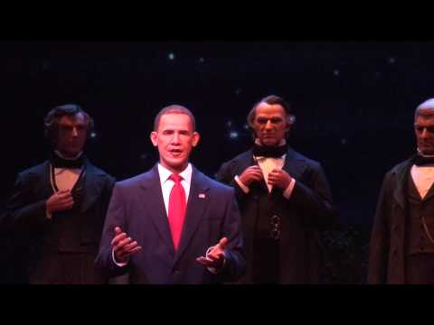Animatronic - Disney's Hall of Presidents attraction at the Magic Kingdom in Walt Disney World has been updated to include speeches from advanced audio-animatronic version...
