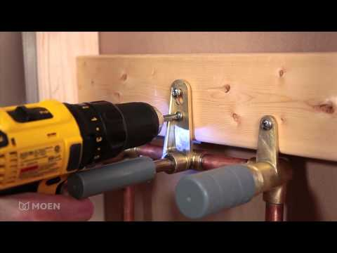 How to Install a Moen Wallmount Bathroom Faucet.