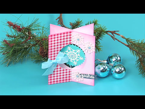 Send Holiday Wishes With This 3-D Dangle Snowflake Card | Sizzix