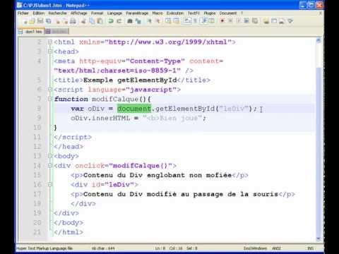 comment modifier une page xml