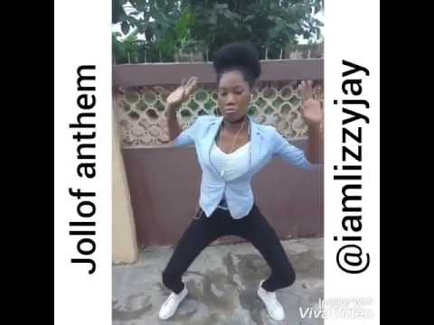 Lizzyjay Dancing To The Jollof Anthem