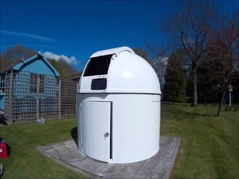 2.2m fully robotic dome with bay installation time lapse