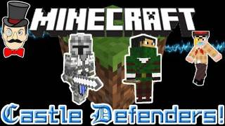 Minecraft CASTLE DEFENDERS Mod! Knights&Archers Defend from Zombies&Creepers!