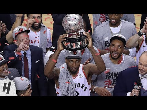 Toronto Raptors Trophy Presentation Ceremony - 2019 Eastern Conference Finals Champions