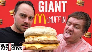 Giant Sausage & Egg McMuffin | Super Size Guys by  My Virgin Kitchen