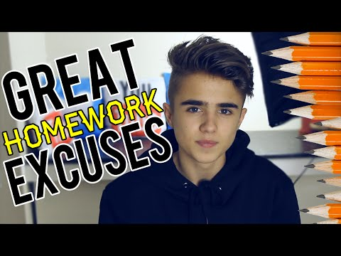 Top 10 excuses for not doing homework