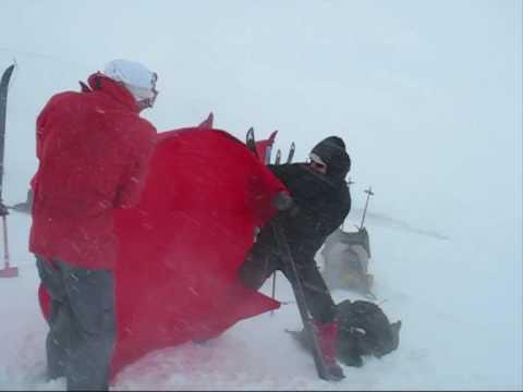 Hilleberg Windsack tested during a Snow Blizzard Sylarna,Sweden