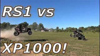 4. Polaris RZR XP1000 vs RZR RS1.. what's better?! drag, jump, race!