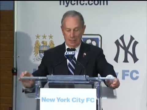 nyc - Mayor Bloomberg Joins Celebration for Major League Soccer's 20th Team, NYC Football Club The Lexington Academy 05/22/13.