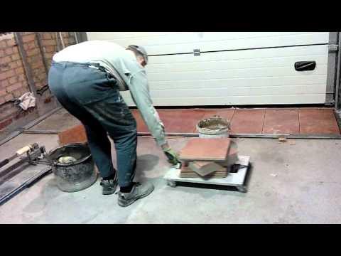 Укладка плитки на пол в гараже технология