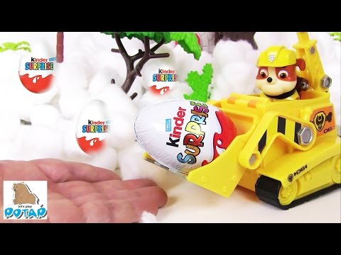 Видео для Детей ВЕЗДЕ СПРЯТАНЫ СЮРПРИЗЫ Киндер Сюрприз Игрушки Kinder Surprise Щенячий Патруль