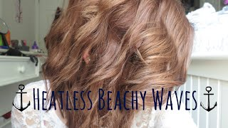 Beachy Waves | No-Heat | Short Hair | Alyssa Nicole