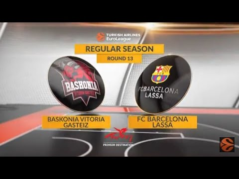 EuroLeague Highlights RS Round 13: Baskonia Vitoria Gasteiz 65-62 FC Barcelona Lassa