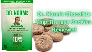 Dr. Norm's Chocolate Chip Therapy Weed Cookies. Are they deserving of a PhD in THC? by  Weeats Reviews