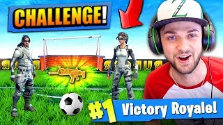 The FOOTBALL CHALLENGE in Fortnite: Battle Royale! by Ali-A