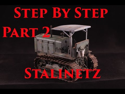 Building, Painting and Weathering Trumpeter 1/35 ChTZ-65 Tractor Part 2/3 (видео)