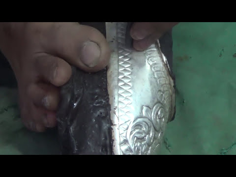 Silver Shoe Making - Varanasi