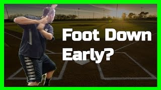 Baseball Teaching | Foot Down Early?