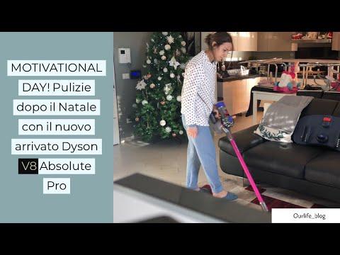 MOTIVATIONAL DAY/PULIZIE DOPO IL NATALE CON I IL NUOVO ARRIVATO DYSON V8 ABSOLUTE PRO