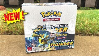 OPENING NEW POKEMON CARDS LOST THUNDER BOOSTER BOX! (English)