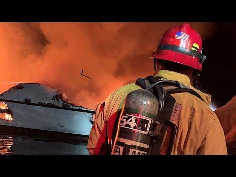Καλιφόρνια: Σκάφος παραδόθηκε στις φλόγες – Δεκάδες νεκροί…