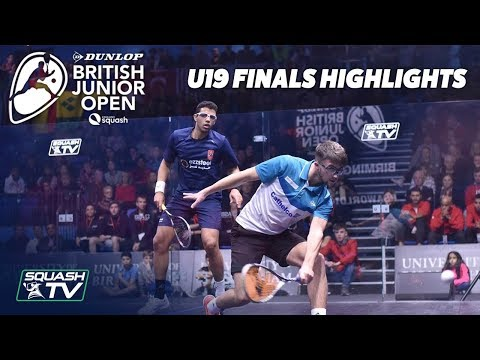 Squash: Dunlop British Junior Open 2019 - U19 Finals Highlights