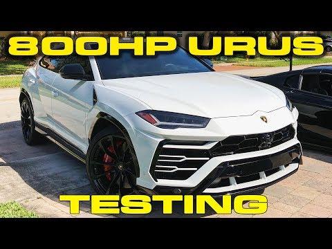 800HP Lamborghini Urus Testing with ECU Tune and Downpipes