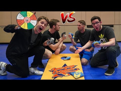 TRICK SHOT CORN HOLE BATTLE! *USA Vs Australia*