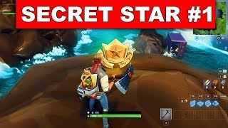 SECRET BATTLE STAR WEEK 1 SEASON 6 LOCATION! - Fortnite Battle Royale (Hunting Party Challenges)