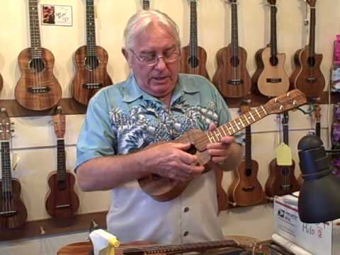 Concert Ukulele - Ken Cameron owner of Hilo Guitars & Ukulele explains the difference between Baritone,Tenor,Concert and Sprano Ukulele.