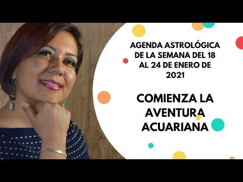 AGENDA ASTROLOGICA DE LA SEMANA DEL 18 AL 24 DE ENERO DE 2021 видео