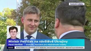 Ministr Petříček na návštěvě Ukrajiny