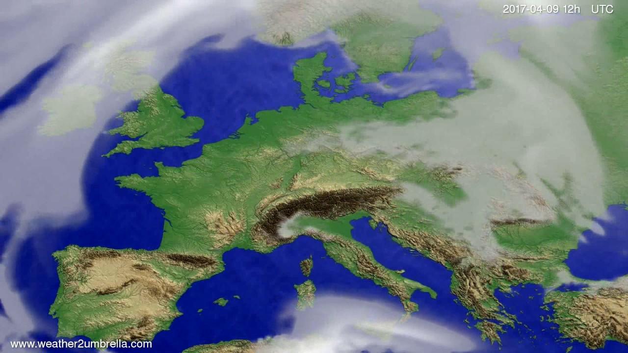 Cloud forecast Europe 2017-04-05