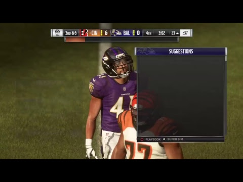Tooty100 live stream ps4 madden 19 the Raven vs. Bengals Thursday night football