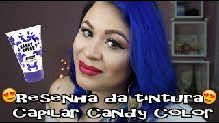 ɛiɜ CORES RECEBIDAS: Vicious Blue, Night Sky (Cor Utilizada), Indigo Blue e RavenE-MAIL PARA CONTATO: contato@cellepinna.com.brɛiɜ BLOG: http://www.MarcellePinna.com.brɛiɜ FAN PAGE: https://www.facebook.com/CellePinnaɛiɜ INSTAGRAM: http://instagram.com/CellePinnaɛiɜ COMPONENTES:- Aqua, Hydroxyethylcellulose, Guar Hidroxypropyltrimonium Chloride, Sucrose, Benzyl Alcohol, Propylene Glycol, Quartenium-80, Cocamidopropyl Betaine, Methylisothiazolinone, Methylchloroisothiazolinone, Citric Acid. Pode conter: HC Yellow nº2, Basic Red 51, HC Blue n°15, Cl 42510, Basic Blue 99, Basic Brown 16, Acid Violet 43.   - Toda a linha tem sua formulação aprovada pela Agência Nacional de Vigilância Sanitária (ANVISA);- Não possui amônia e nem parabenos, podendo ser utilizada com qualquer química;- Vem com textura de silicone que facilita a aplicação;- As cores são vibrantes e com brilho intenso;- É vegana e não faz testes em animais;- É liberada para No-Poo e Low-Poo;- É dermatologicamente testado;- Desenvolvida por coloristas;- Age em apenas 15 minutos;- Possui alta durabilidade;- Já vem pronta para uso;- Não agride os cabelos.Fonte: www.candycolor.com.brDúvidas: http://candycolor.com.br/site/?page_id=120