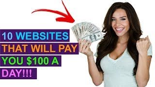 Video 10 Websites You Can Make $100 A Day From Online! (No Special Skills) MP3, 3GP, MP4, WEBM, AVI, FLV Juni 2019