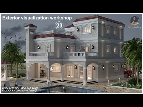 3Ds MAX & Vray Exterior visualization workshop _23 (Forest pro)