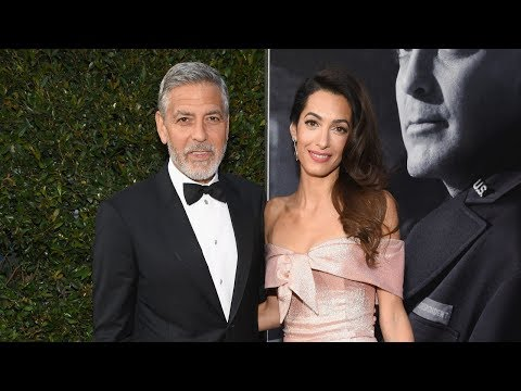 George Clooney Hobbles Onto Plane With Amal In First Sighting Since Motorcycle Accident