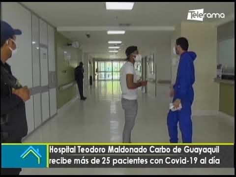 Hospital Teodoro Maldonado Carbo de Guayaquil recibe más de 25 pacientes con covid-19 al día