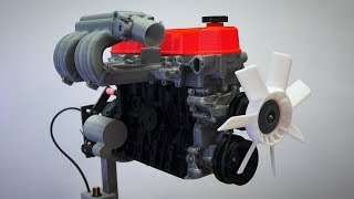 How Straight Four Cylinder Engines Work - Functional 3D Printed ModelStraight-4 Model: https://www.thingiverse.com/thing:644933Subscribe for new videos every Wednesday! - https://goo.gl/VZstk7Related VideosEngine Balance - http://youtu.be/aonbwOxooGAPrimary Balance - http://youtu.be/9Bdc9CuBOzcSecondary Balance - http://youtu.be/gdHQ8aTfiQQWhat is an inline four cylinder? What are the advantages of an inline engine? What are the advantages of a four cylinder engine? Four cylinder engines are great compact engines, which can fit in many engine bays, are easy to work on, and have balanced primary forces. The secondary forces of I4 engines are not balanced, however, reducing the overall size they can get to without the use of balancing shafts. Also, I4's have a high center of gravity.One of the interesting things about inline four cylinders is why the pairs of cylinders move in the way that they do, with the inner two pistons moving up and down together, as well as the outer two pistons moving up and down, opposite the inner cylinders. Now part of the reason this is done is because for an even firing interval, you want to fire every 180 degrees, so you need at least one cylinder at top dead center for every 180 degrees of crankshaft rotation. But this flat-plane crankshaft is chose to keep the engine balanced and minimize vibration. You can see that for first order forces, the pistons moving up and down opposite one another balance each other out. That said, for secondary forces, the forces do not balance out, as they point upward at both top dead center, and bottom dead center. This tends to limit the size of inline four cylinder engines, because as they get larger and rev higher, they tend to vibrate more. This can be countered using balancing shafts, but that means a more complex engine design. Don't forget to check out my other pages below!Facebook: http://www.facebook.com/engineeringexplainedOfficial Website: http://www.howdoesacarwork.comTwitter: http://www.twitter.com/jasonfenske13Instagram: http://www.instagram.com/engineeringexplainedCar Throttle: https://www.carthrottle.com/user/engineeringexplainedEE Extra: https://www.youtube.com/channel/UCsrY4q8xGPJQbQ8HPQZn6iANEW VIDEO EVERY WEDNESDAY!