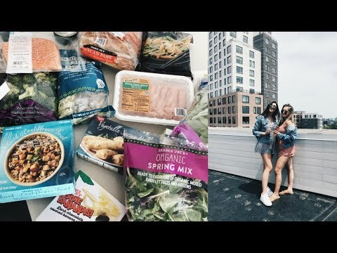 WORK WEEK IN MY LIFE | balancing a social life + what i eat/grocery haul!
