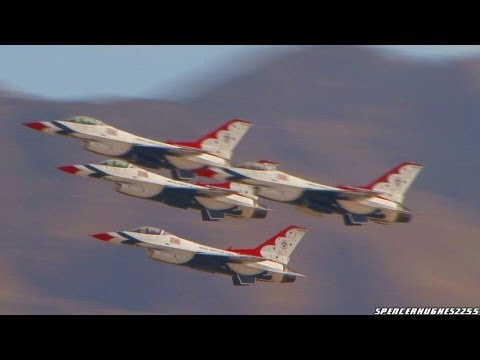 Aviation Nation 2011 - U.S.A.F. Thunderbirds Complete Demonstration