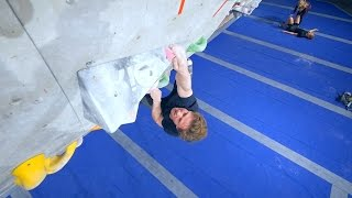 Nikken Is Climbing On His New Favorite 8A! by Eric Karlsson Bouldering