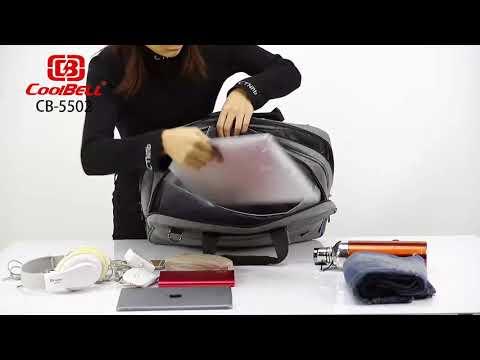 CoolBELL Convertible Messenger Bag Backpack Shoulder bag Laptop Case Handbag