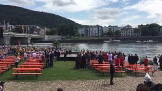 William und Kate in Heidelberg - Ruderregatta