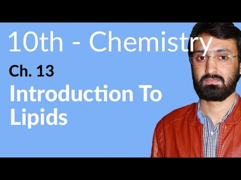 10th Class Chemistry, ch 13, Introduction to Lipids - Matirc Class Chemistry