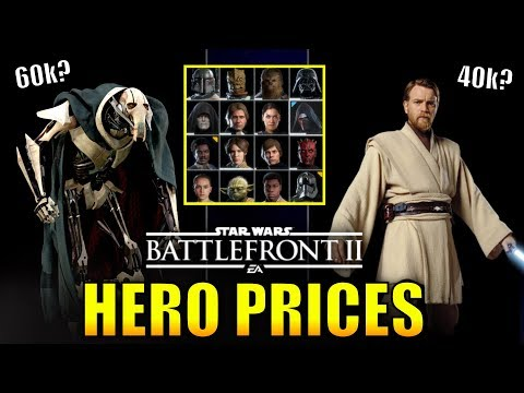 Battlefront 2 Clone Wars Hero Prices! (How Much Will They Be?) - Star Wars Battlefront 2 (видео)