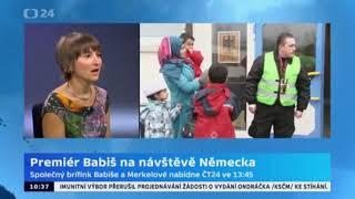 Andrej Babiš odjíždí do Německa na schůzku s Angelou Merkelovou